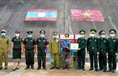 Guardia fronteriza vietnamita felicita a sus homólogos laosianos en ocasión del festival Bunpimay