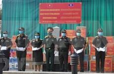 Unidades militares de Vietnam donan suministros médicos a localidades laosianas
