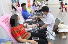 Jóvenes y trabajadores en Ciudad Ho Chi Minh participan en donación de sangre