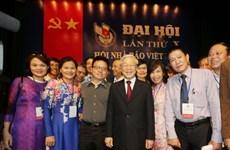 Felicita máximo dirigente político de Vietnam a periodistas nacionales