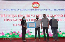 Donan 4,3 millones de dólares para ayudar esfuerzos antipandémicos de Hanoi