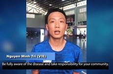 Jugador vietnamita de futsal se suma a campaña de AFC contra el COVID-19