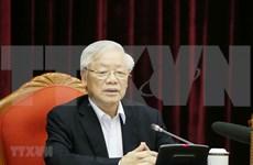 Máximo dirigente de Vietnam resalta importancia de preparación del personal para XIII Congreso partidista