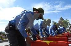 Entierran restos de combatientes voluntarios vietnamitas caídos en Camboya