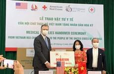 Dona Cruz Roja de Vietnam insumos médicos a Estados Unidos