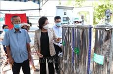Presidenta parlamentaria asiste a la entrega del purificador de agua a la población afectada por sequía