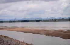 El nivel del agua del Rio Mekong se encuentra debajo de su promedio
