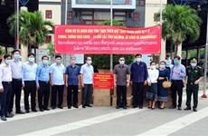 Provincia vietnamita apoya con suministros a localidad laosiana para frenar el COVID-19