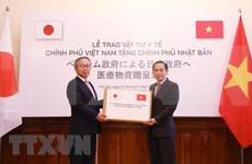 Entrega Vietnam mascarillas sanitarias a Japón