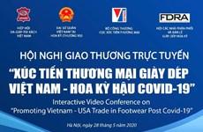 Vietnam y Estados Unidos efectuarán teleconferencia sobre comercio de calzado
