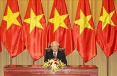 Máximo dirigente de Vietnam felicita al presidente de México por 45 aniversario de nexos bilaterales