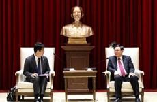 Recibe dirigente de Hanoi a director general de AEONMALL Vietnam