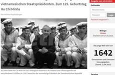 Medios internacionales destacan trascendencia del Presidente Ho Chi Minh