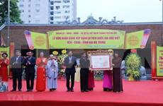 Recibe Hanoi título de reconocimiento al templo Hai Ba Trung