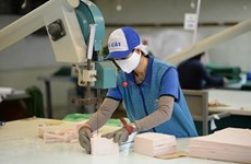 Donan mascarillas antibacterianas a vietnamitas residentes en Rusia