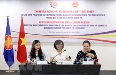 ASEAN analiza medidas de prevención y lucha contra la violencia familiar en medio del COVID-19