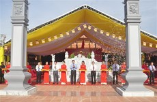 Inauguran templo dedicado al Presidente Ho Chi Minh y mártires en provincia de Quang Binh