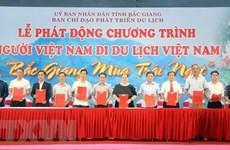 """Inauguran campaña """"Vietnamitas viajan por Vietnam"""" en provincia de Bac Giang"""