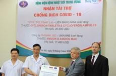 Vietnam recibe medicamentos contra el COVID-19, otorgados por Ucrania y Rusia