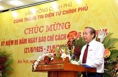 Felicita vicepremier vietnamita a periodistas por Día de Prensa Revolucionaria