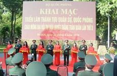 Efectúan en Hanoi exposición de logros militares y de defensa