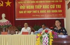 Presidenta del Parlamento vietnamita se reúne electores de ciudad de Can Tho