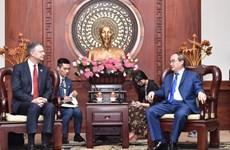 Dirigente de Ciudad Ho Chi Minh recibe a embajador estadounidense