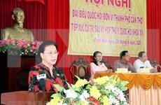 Presidenta del Parlamento vietnamita dialoga con electores sobre temas de interés