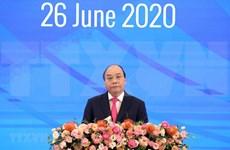 Sesiona en Hanoi plenario en línea de XXXVI Cumbre de la ASEAN