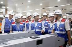 Inspeccionan construcción del proyecto del metro Ben Thanh-Suoi Tien en Ciudad Ho Chi Minh