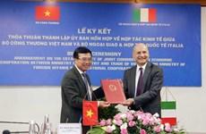 Vietnam e Italia forman Comisión Conjunta sobre Cooperación Económica
