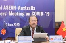 ASEAN y Australia celebran videoconferencia especial sobre COVID- 19