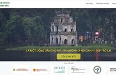 Presentan sitio web para compromisos de amantes de Hanoi con su mejoramiento ambiental