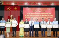 Analizan labores de propaganda partidista de los órganos centrales de Vietnam
