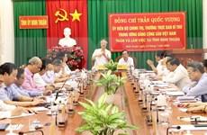 Permanente de Secretariado del PCV visita Ninh Thuan