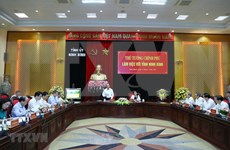Primer ministro de Vietnam supervisa desembolso de capital público en Ninh Binh