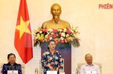 Clausuran sesión 46 del Comité Permanente del Parlamento de Vietnam