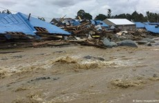 Aumenta a 21 el número de muertos por inundaciones en Indonesia