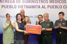 Ministerio de Defensa de Vietnam dona materiales médicos a Cuba