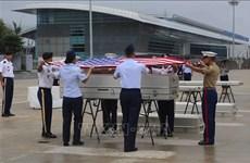 Efectúan ceremonia de repatriación de restos de militares estadounidenses en Hanoi