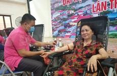 Nutrida participación en donación de sangre en provincia de Bac Giang