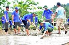 Jóvenes de Tien Giang desarrollan actividades prácticas hacia la comunidad