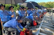 Realizan homenaje póstumo a 52 combatientes voluntarios de Vietnam fallecidos en Camboya
