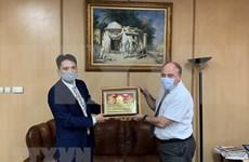 Agencia noticiosa argelina muestra interés en cooperar con VNA en productos de multimedia