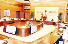 Presidenta del Parlamento vietnamita preside primera reunión del Consejo Electoral Nacional