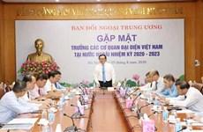 Dirigente partidista vietnamita pide mayor desempeño de misiones representativas del país en extranjero