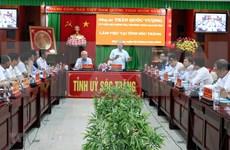 Delegación del Comité Central del Partido de trabajo en Soc Trang