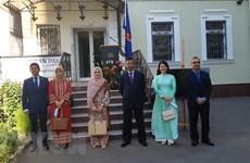 Izan bandera de la ASEAN en Ucrania por 53 años de su fundación