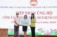 Empresa vietnamita apoya a la lucha contra el COVID-19