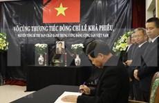 Embajadas de Vietnam en Malasia y Japón rinden homenaje póstumo al exdirigente Le Kha Phieu